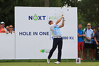 Jamie Donaldson (WAL) on the 7th tee during Round 1 of the D+D Real Czech Masters at the Albatross Golf Resort, Prague, Czech Rep. 31/08/2017<br /> Picture: Golffile | Thos Caffrey<br /> <br /> <br /> All photo usage must carry mandatory copyright credit     (&copy; Golffile | Thos Caffrey)