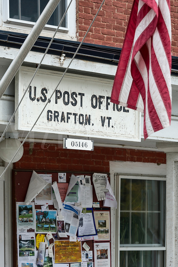 Old fashion village post office, Grafton, Vermont, USA
