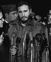 1959 April 15. , Washington, DC, USA - [Fidel Castro arrives MATS Terminal, Washington, D.C.]