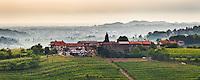 Farm house and vineyards near Dobrovo, Goriska Brda (Gorizia Hills), Slovenia, Europe