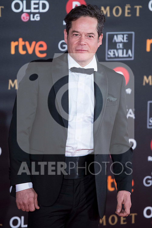 Jorge Sanz attends red carpet of Goya Cinema Awards 2018 at Madrid Marriott Auditorium in Madrid , Spain. February 03, 2018. (ALTERPHOTOS/Borja B.Hojas)