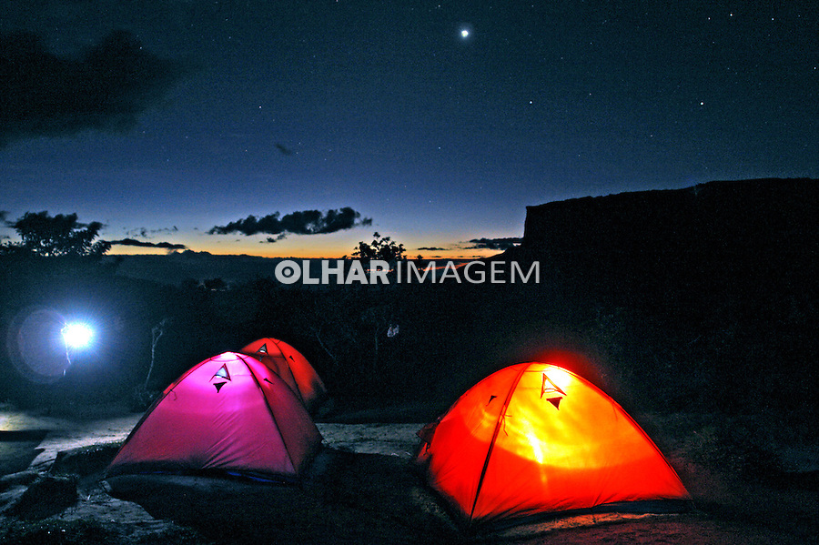 Acampamento no Parque Nacional do Monte Roraima. Roraima. Foto de Caio Vilela.