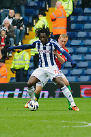 Saturday, 9 March 2013<br /> <br /> Pictured: Garry Monk of Swansea City and Romelu Lukaku of West Bromwich Albion<br /> <br /> Re: Barclays Premier League West Bromich Albion v Swansea City FC  at the Hawthorns, Birmingham, West Midlands