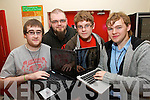 Setting up the Coder Dojo group in KDYS Tralee on Thursday last were l-r: Matthew Lee, David Egan, Jordan Hewitt and Jack McGaley.