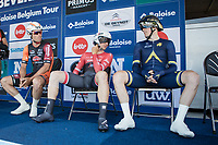 Andrew Fenn (GBR/Aqua Blue), Edward Theuns (BEL/Trek-Segafredo) and Timothy Stevens (BEL/Pauwels Sauzen) waiting for their start.<br /> <br /> Baloise Belgium Tour 2017<br /> Stage 3: ITT Beveren - Beveren (13.4km)