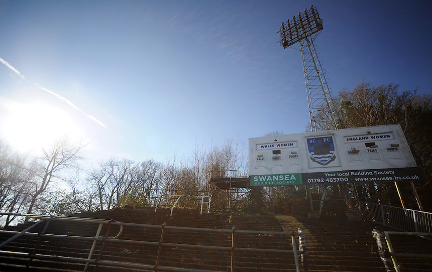 A general view of St1 Helen's, home of Wales Women<br /> <br /> Photographer Kevin Barnes/CameraSport<br /> <br /> International Womens Rugby Union - 2015 RBS 6 Nations Championship - Wales Women v England Women - Sunday 8th February 2015 - St Helen's - Swansea<br /> <br /> &copy; CameraSport - 43 Linden Ave. Countesthorpe. Leicester. England. LE8 5PG - Tel: +44 (0) 116 277 4147 - admin@camerasport.com - www.camerasport.com