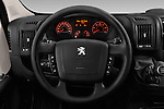 Car pictures of steering wheel view of a 2017 Peugeot Boxer l2h2-extended 4 Door Combi Steering Wheel