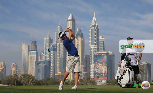 Louis Oosthuizen (RSA) during the Pro-Am at the 2016 Omega Dubai Desert Classic, played on the Emirates Golf Club, Dubai, United Arab Emirates.  03/02/2016. Picture: Golffile   David Lloyd<br /> <br /> All photos usage must carry mandatory copyright credit (&copy; Golffile   David Lloyd)
