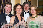 GOOD CRAIC: Having a great craic at the Enable Ireland Fundraising Gala Ball in association with the Bon Secour Hospital, Tralee on Friday night in Ballygarry House Hotel & Spa,Tralee were-l-r: Kenneth O'Connell, Juliette O'Connor, Ger Peighery and Ursula Quinlan..   Copyright Kerry's Eye 2008