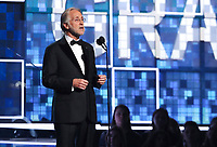 President and CEO of the Recording Academy Neil Portnow introduces an In Memoriam tribute at the 61st annual Grammy Awards on Sunday, Feb. 10, 2019, in Los Angeles. (Photo by Matt Sayles/Invision/AP)