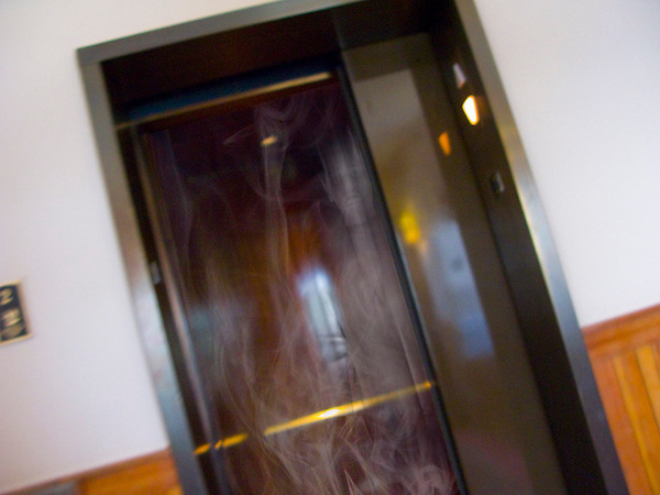 Ghost in elevator