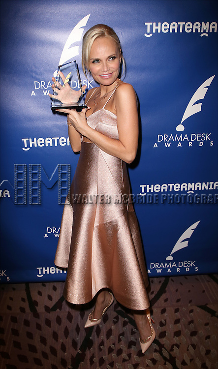 Kristin Chenoweth visits the 2015 Drama Desk Awards Media Room at Marriott Marquis Times Square on May 31, 2015 in New York City.