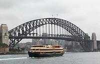 14 SEP 2009 - SYDNEY, AUS - The ferry 'Freshwater' leaves Circular Quay (PHOTO (C) NIGEL FARROW)