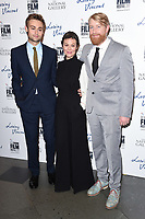 Douglas Booth, Helen McCrory and director, Hugh Welchman<br /> arriving for the London Film Festival 2017 screening of &quot;Loving Vincent&quot; at the National Gallery, Trafalgar Square, London<br /> <br /> <br /> &copy;Ash Knotek  D3328  09/10/2017