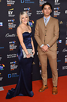 Elise Christie &amp; Shaolin S&aacute;ndor Liu arriving for the BT Sport Industry Awards 2018 at the Battersea Evolution, London, UK. <br /> 26 April  2018<br /> Picture: Steve Vas/Featureflash/SilverHub 0208 004 5359 sales@silverhubmedia.com