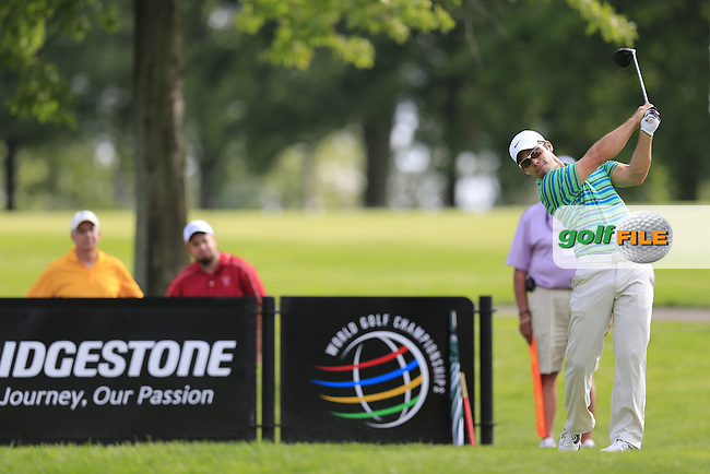 Paul Casey (ENG) tees off the 9th tee during Thursday's Round 1 of the 2013 Bridgestone Invitational WGC tournament held at the Firestone Country Club, Akron, Ohio. 1st August 2013.<br /> Picture: Eoin Clarke www.golffile.ie
