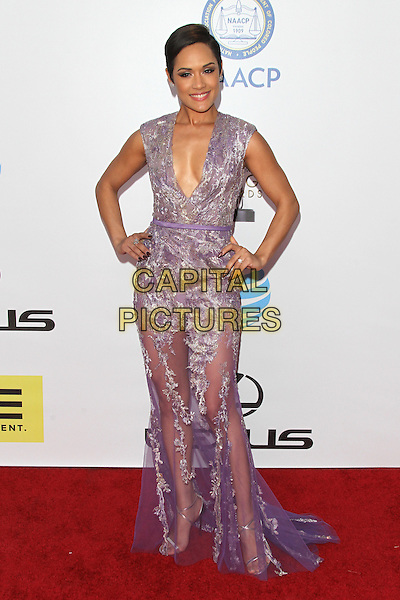 PASADENA, CA - FEBRUARY 5: Grace Gealey at the 47th NAACP Image Awards presented by TV One at Pasadena Civic Auditorium on February 5, 2016 in Pasadena, California. <br /> CAP/MPI25<br /> &copy;MPI25/Capital Pictures