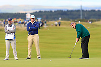 Ernie Els (RSA) on the 16th green during Round 3 of the Alfred Dunhill Links Championship 2019 at St. Andrews Golf CLub, Fife, Scotland. 28/09/2019.<br /> Picture Thos Caffrey / Golffile.ie<br /> <br /> All photo usage must carry mandatory copyright credit (© Golffile | Thos Caffrey)