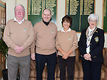 Captain PJ Campbell, Lady Captain Irene Kirwan, President Andrew Taaffe and Lady President Mary Smith pictured at the Captain's drive in at Seapoint golf club. Photo:Colin Bell/pressphotos.ie