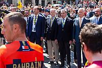 Eddy Merckx, Albert II of Monaco, King Philippe of Belgium - 106th Tour de France Departure