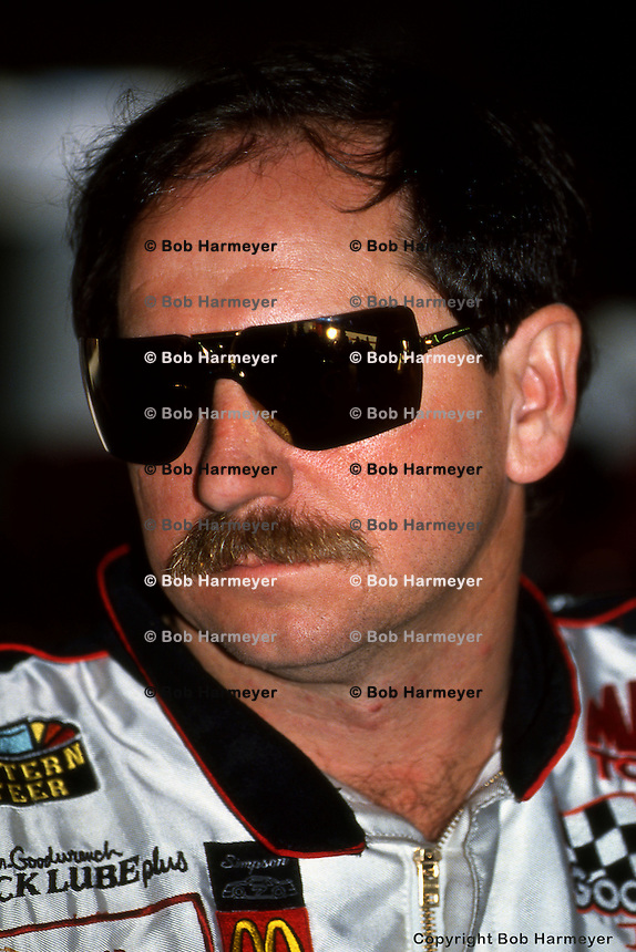DAYTONA BEACH, FL - FEBRUARY 14: Dale Earnhardt during practice for the Daytona 500 on February 14, 1993, at the Daytona International Speedway in Daytona Beach, Florida.