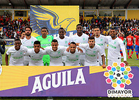 IPIALES-COLOMBIA, 21-09-2019: Jugadores de Atlético Nacional, posan para una foto, antes de durante partido de la fecha 12 entre Deportivo Pasto y Atlético Nacional por la Liga Águila II 2019  jugado en el estadio Municipal de Ipiales de la Ciudad de Ipiales. / Players of Atletico Nacional, pose for a photo, prior a match of the 12th date between Deportivo Pasto and Atletico Nacional for the Aguila Leguaje II 2019 played at the Municipal de Ipiales stadium in Ipiales city. Photo: VizzorImage / Leonardo Castro / Cont.