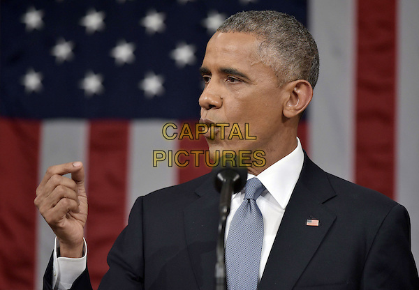US President Barack Obama delivers the State of The Union address on January 20, 2015, at the US Capitol in Washington, DC.  <br /> CAP/MPI/MAN<br /> &copy;MAN/MPI/Capital Pictures