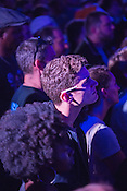 Durham, North Carolina - Friday May 6, 2016 - The crowd at the Kamasi Washington show looks on during the opening song Friday night at The Armory during the Art of Cool Festival in Durham.