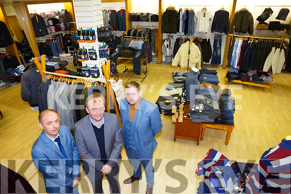 New shop Celsius open's in Tralee. l-r Michael Murphy, John Murphy and Frankie Murphy