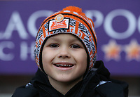 A young Blackpool fan looks forward to the kick-off<br /> <br /> Photographer Stephen White/CameraSport<br /> <br /> The EFL Sky Bet League One - Blackpool v Bristol Rovers - Saturday 13th January 2018 - Bloomfield Road - Blackpool<br /> <br /> World Copyright &copy; 2018 CameraSport. All rights reserved. 43 Linden Ave. Countesthorpe. Leicester. England. LE8 5PG - Tel: +44 (0) 116 277 4147 - admin@camerasport.com - www.camerasport.com