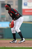 First baseman Kennys Vargas (35) of the Rochester Red Wings prepares for the pitch against the Scranton Wilkes-Barre Railriders on May 1, 2016 at Frontier Field in Rochester, New York. Red Wings won 1-0.  (Christopher Cecere/Four Seam Images)
