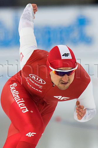 January 29th 2017, Sportforum, Berlin, Germany; ISU Speed Skating World Cup;  ISU Speed Skating World Cup , 500m Division A; Artur Nogal (POL)