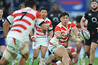 Ryoto Nakamura of Japan passes to Masakatsu Nishikawa of Japan during the Quilter International match between England and Japan at Twickenham Stadium on Saturday 17th November 2018 (Photo by Rob Munro/Stewart Communications)