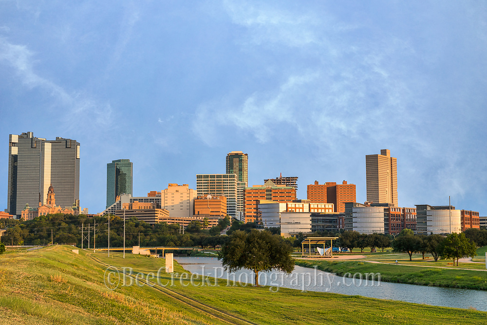Captured this photo of downtown Fort Worth skyline in late afternoon along the Trinity river.  From here you can see the high rise buildings like the Burrnet Tower, Wells Fargo, The Tower, County Courthouse, Tarrant County College, along with many others buildings along the shore.  We love the look of the cityscape along the river from this location. However, this location is not a safe place as once we stopped Fort Worth PD show up to  warn us that they would rob us and steal our car so not to stick around too long.  We had intended to come back later but decided maybe not the best idea. In any case this little cow town is all grow up.