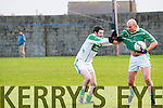 Ballyduff's Roger Costello clearly fouled by Ballydonoghue's Martin O'Mahony yet the subsequent free was given to Ballydonoghue.