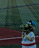 "Ballparks: Rancho Cucamonga Epicenter. Panorama of field 3. The Dinosaur Mascot--""Shaky""--was amusing."