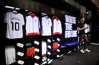 Phil Dickinson from Nike during the unveiling of the USA Men's National Team new uniform at Niketown in NYC, NY, on April 29, 2010.