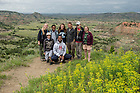 June 9, 2015; UNDERC-West students on an overlook of the badlands at Theodore Roosevelt National Park in Medora, North Dakota. (Photo by Barbara Johnston/University of Notre Dame)
