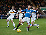Kenny Miller beats the Dumbarton rearguard but fails to find the net