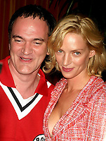 CelebrityArchaeology.com<br /> New York City<br /> 2003 FILE PHOTO<br /> QUENTIN TARANTINO AND UMA THURMAN<br /> Photo By John Barrett-PHOTOlink.net<br /> -----<br /> CelebrityArchaeology.com, a division of PHOTOlink,<br /> preserving the art and cultural heritage of celebrity<br /> photography from decades past for the historical<br /> benefit of future generations, for these images are<br /> significant, both historically and aesthetically.<br /> ——<br /> Follow us:<br /> www.linkedin.com/in/adamscull<br /> Instagram: CelebrityArchaeology<br /> Blog: CelebrityArchaeology.info<br /> Twitter: celebarcheology