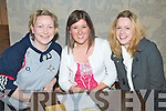 QUIZ: Enjoying a great at the Tralee Bicycle Club table quiz at the Earl of Desmond hotel on Thursday l-r: Liz Murphy and Michelle Horan, Tralee and Kate O'Donnell, Camp.