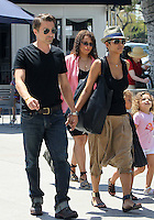 Family outing! Halle Berry took adorable Nahla_and her fiance Olivier Martinez to see the Mary Poppins musical at the Music Center in Downtown Los Angeles. The three were accompanied by a security guard and a few friends. Have you noticed Halle's MC Hammer style harem pants? Los Angeles, California on 11.08.2012..Credit: Correa/face to face.. / Mediapunchinc ***online only for weekly magazines**** /NortePHOTO.com