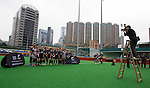 Photo time at the Hong Kong Football Club. Hong Kong. 25 March 2015. Photo: Marc Weakley/allblacks.com