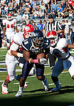 October 22, 2011:  Nevada Wolf Pack's Rishard Matthews fights for extra yardage in the fourth quarter against the Fresno State Bulldogs during a WAC league game played at Mackay Stadium in Reno, Nevada.
