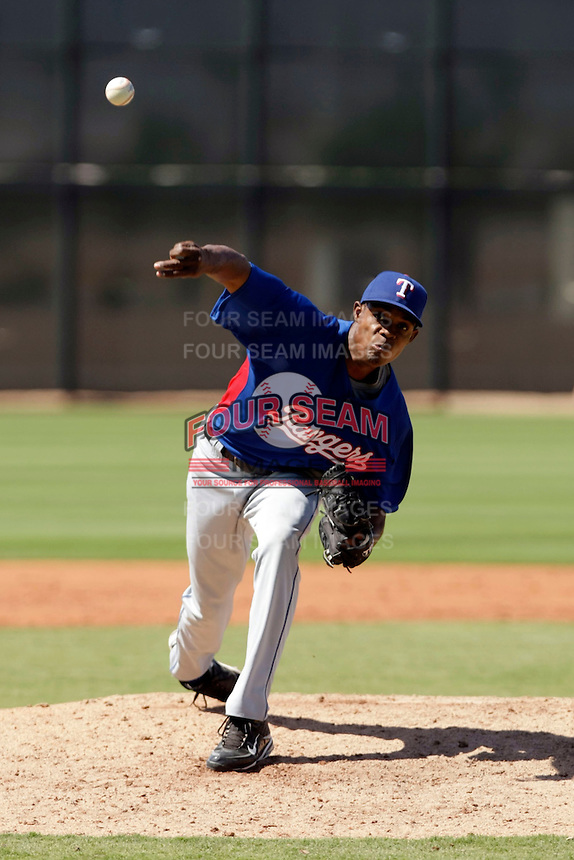 Ezequiel Rijo - Texas Rangers 2009 Instructional League. .Photo by:  Bill Mitchell/Four Seam Images..