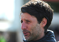 Lincoln City manager Danny Cowley during the pre-match warm-up<br /> <br /> Photographer Andrew Vaughan/CameraSport<br /> <br /> The EFL Sky Bet League Two - Lincoln City v Cheltenham Town - Saturday 13th April 2019 - Sincil Bank - Lincoln<br /> <br /> World Copyright © 2019 CameraSport. All rights reserved. 43 Linden Ave. Countesthorpe. Leicester. England. LE8 5PG - Tel: +44 (0) 116 277 4147 - admin@camerasport.com - www.camerasport.com
