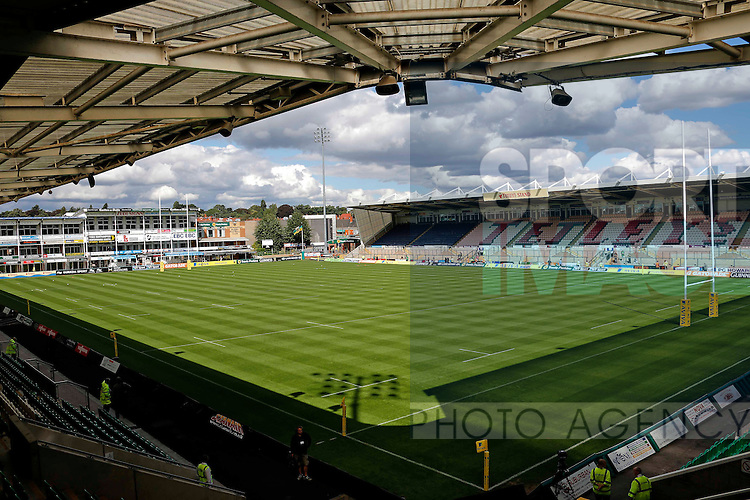 General view of Franklins Gardens, the home ground of Northampton Saints - Rugby Union - Aviva Premiership - Northampton Saints vs Exeter Chiefs - Franklins Gardens Northampton -  Season 2013-2014 - September 7th 2013 - Photograph Malcolm Couzens/Sportimage