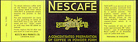 BNPS.co.uk (01202 558833)<br /> Picture: Nestle/BNPS<br /> <br /> ****Please use full byline****<br /> <br /> Nescafe coffee powder.<br /> <br /> A selection of vintage chocolate and sweets wrappers have been unearthed to help trigger happy memories in dementia sufferers.<br /> <br /> Some of the earliest examples of the Rowntrees packaging dates from the 1920s and includes the first wrappers for famous treats such as Aero, Dairy Box, and Fruit Gums.<br /> <br /> As the brands were updated over the years the paper casing was gradually changed but examples of the early versions were stored in an archive.<br /> <br /> Historians at Rowntrees have now placed images of the packets on an online document so that they can be seen by dementia sufferers as a way to reminisce.