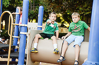 The Harker School - LS - Lower School - Kindergarten Welcome BBQ held on the KDG Patio at Bucknall - Photo by Kyle Cavallaro