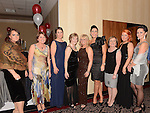 Group E Joanne Mallon, Collette O'Connor, Kate Williams, Margo Duffy, Mary Reilly, Sarah Jane Kelly, Mary Flanagan, Erica Monaghan and Petra Stoucacova pictured at the Drogheda Athletic Club annual dinner in the Westcourt Hotel. Photo:Colin Bell/pressphotos.ie